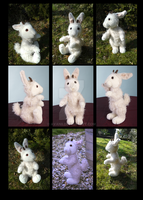 Plushie: Elias the sheep-rabbit (OC) by Avanii