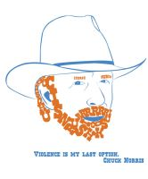 Chuck Norris Letter Face by sarahb86