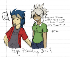 HAPPY BIRTHDAY JESSI by hugfiend