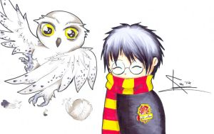 Harry and Hedwig by KouIsTheVermonster