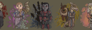 Call of Time Chibi Lineup by Narfadoodle