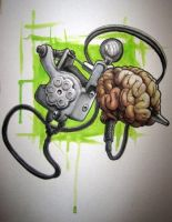Tattoo Brain by Jonboyhoffman