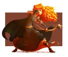 Merida-brave(finish) by kojangee