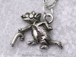Blind Mouse Necklace by MonsterBrandCrafts