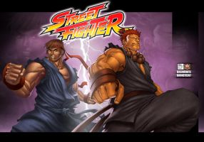 Street Fighter :Dark Hadou by darkeyez07