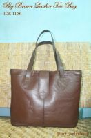 big brown leather tote bag by na2ngkusuma