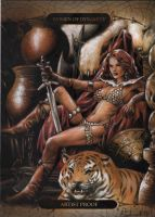 Red Sonja sketch card commission by huy-truong