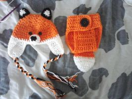 Crochet Baby Fox Outfit by LilliM00