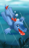 Diving totodile by 11newells