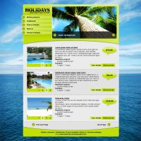 Holidays Web Layout by Makaveli-sk