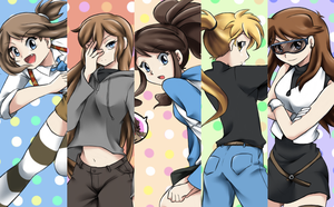 AU! Pokespe High ladies by ViChaN91312