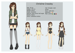 Christine Crossley: character sheet by vickiehime