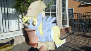 Derpy cardboard cutout WIP by RE-ACTION1982