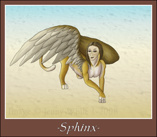 Mythical Creatures-Sphinx by BlueEyesBlackTears