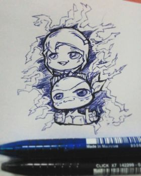 Little Smoile Mikey and Shadee by Aila-Ji