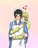 love in the kitchen. by Hikaru-Lawliet