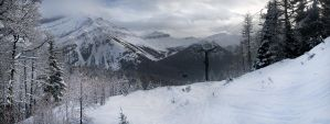 Lake louis ski pano by Millsy1