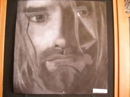 Kurt Cobain chalk portrait by Scarefish