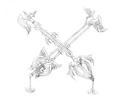 fly the darkness keyblades by blackmetroid