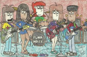 Jenny's First Rehearsal With Punk Noise by gretzelboy89
