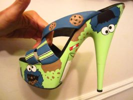 cookie monster shoes 12 by AnikArtistique