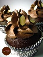 Chocolate Almonds Faux Cupcake by CreativeAbubot