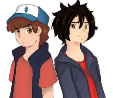 ::BH6 x GF:: Child Geniuses by bumble-lily