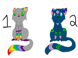 free Cat adoptables 2 ~CLOSED~ by FireBurstCat