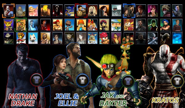 PlayStation All-Stars Round 2: Beta Roster by LeeHatake93