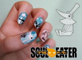 Excalibur Nail Art by Nippip