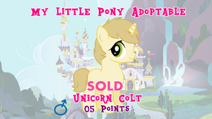 My Little Pony - Colt Adoptable :CLOSED: by LoopScratch