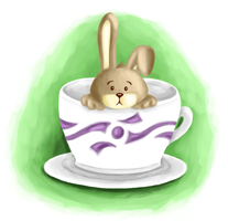 Bunny in a cup - digital by meredith-grey