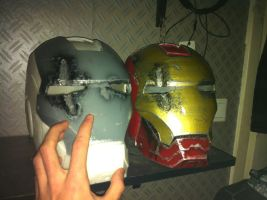 ironman helmet in progress and prototype by CatCest
