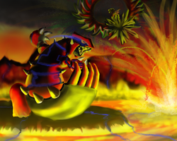 Groudon vs Ho-Oh by GeneralGibby