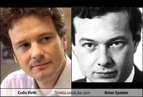 Colin Firth Totally Looks Like Brian Epstein by TheOriginalBeatleBug
