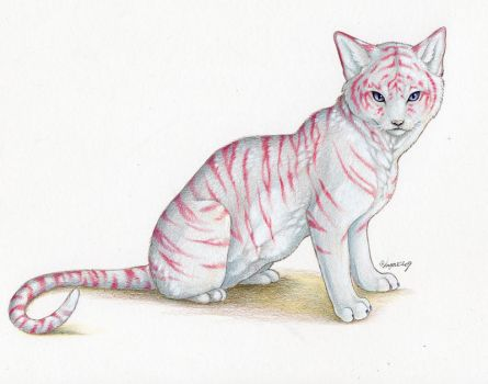 Commission-Tiger cat by Lyanti