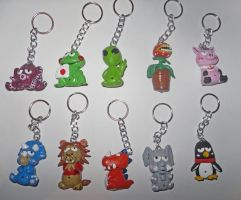 Figures for Keyrings 1 by JuanIglesias90