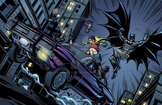 Batman and Robin colors by seanforney