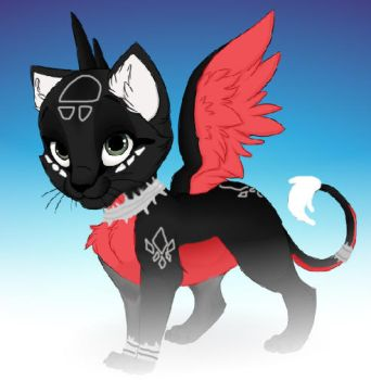 Cynder as a kitty by Cynder200