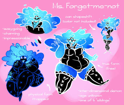 Ms. Forget-me-not by 2plus3