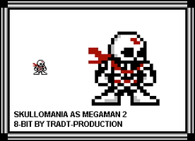 Skullomania as Megaman 2 style by TRADT-PRODUCTION