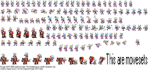 Rouge Next Gen SSF2 Sprites by kaijinthehedgehog