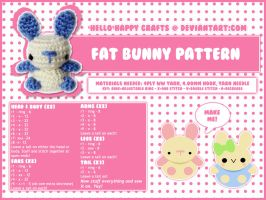 free amigurumi pattern - fat bun by hellohappycrafts