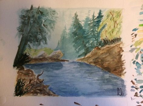 River (Watercolour) by wortmore