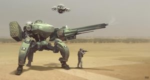 Robot Tripod (Manned or UnManned) by littlepoop