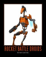 Star Wars The Clone Wars Rocket Battle Droid by Onikage108