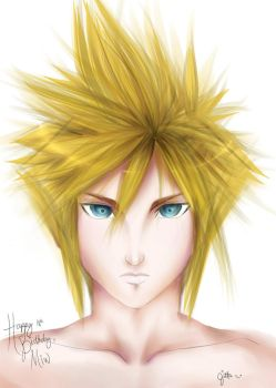 Cloud Strife- gift art by tifa005