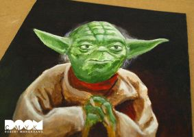 Final Yoda Painting closeup 1 by DoomCMYK