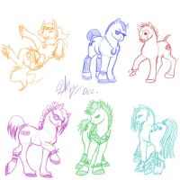 Brony Ponies by nypd