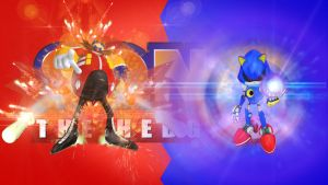 Dr. Eggman(Ivo Robotnik) and Metal Sonic by FARetis